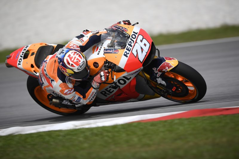 Dani Pedrosa tops the standings on day 1 in Sepang, Marc Marquez seventh
