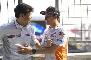 Tetsuhiro Kuwata and Marc Marquez