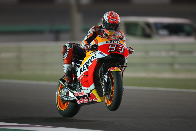 Front row start for Marquez in Qatar with Pedrosa seventh fastest