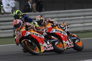 Marc Marquez and Dani Pedrosa - Qatar Race