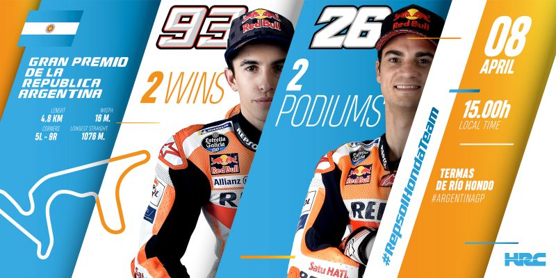 Marquez and Pedrosa head to Argentina for second round of MotoGP World Championship