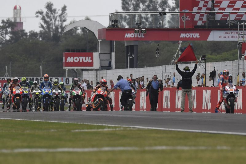 Havoc from tricky conditions in Argentina jeopardizes the race for the Repsol Honda Team