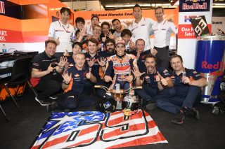 Marc Marquez and his Team - Austin race