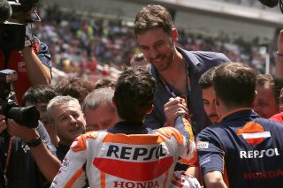 Marc Marquez  and Pau Gasol - Catalan GP