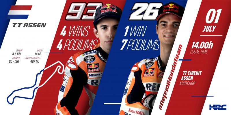 """Repsol Honda Team head to Assen, the """"Cathedral"""" of bike racing"""