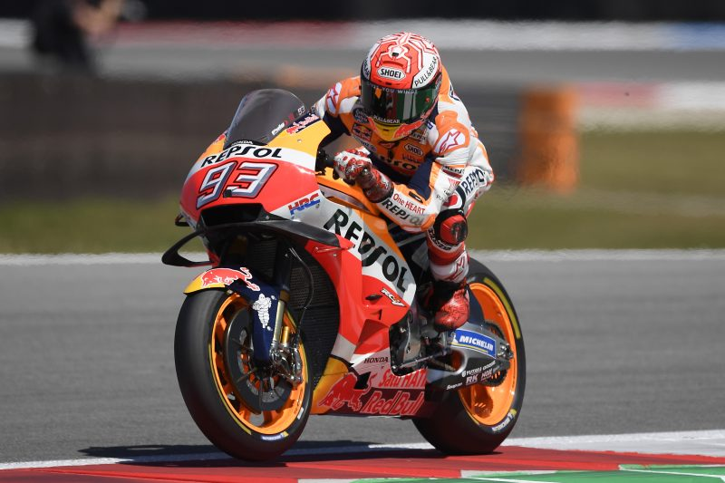 Marquez and Pedrosa start preparation for the Dutch TT at sunny Assen