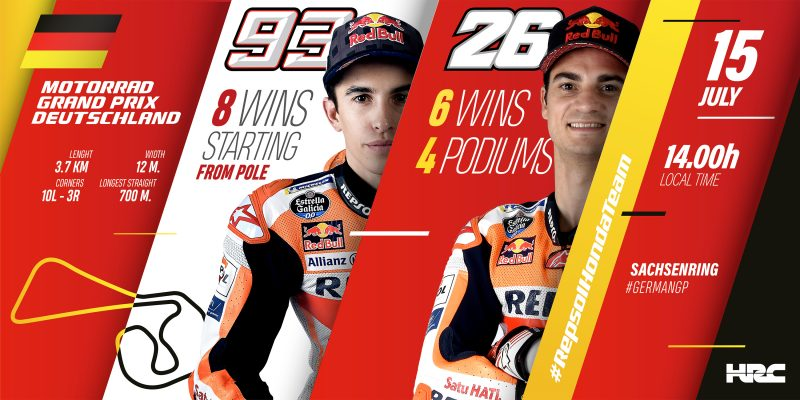 Repsol Honda look forward to another exciting race at Sachsenring
