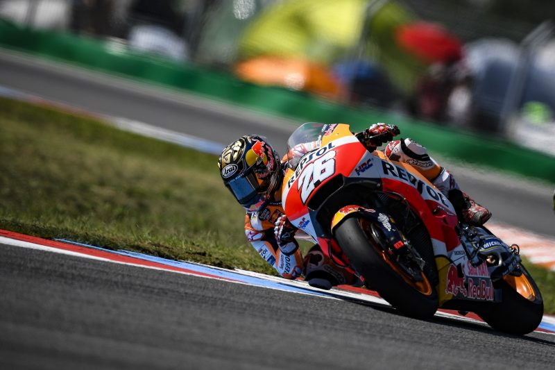 Pedrosa fastest on day one at Brno with Marquez 10th on used tyres