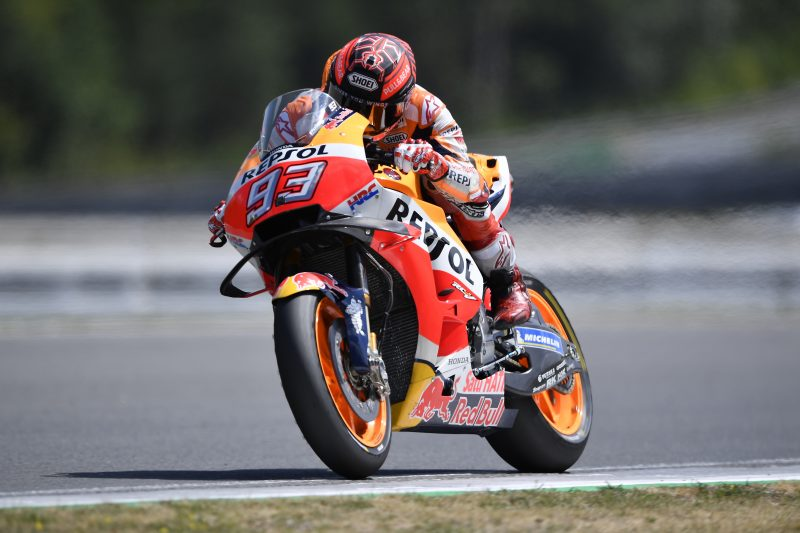 Marc Marquez on top in Brno test with Pedrosa a close third fastest