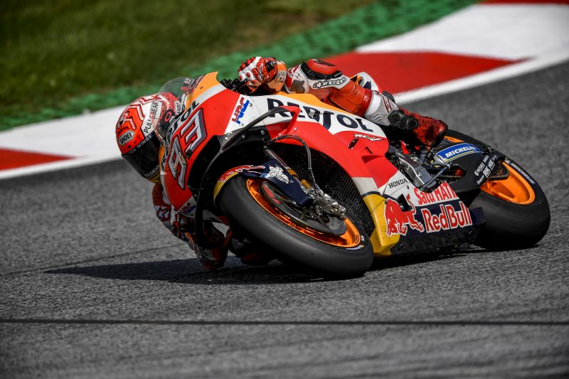 Marquez and Pedrosa secure provisional Q2 positions in mixed Austrian weather