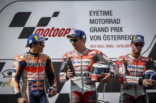 Marc Marquez, Jorge Lorenzo and Andrea Dovizioso - Austrian GP