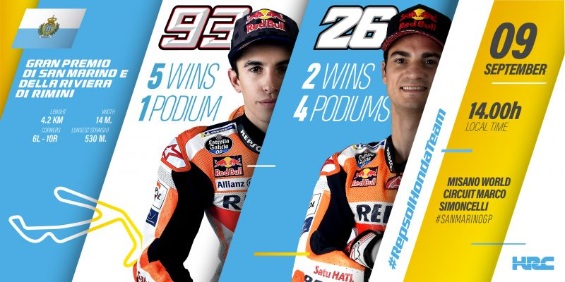 Marquez and Pedrosa looking forward to a perfect summer weekend in Misano