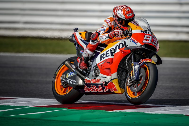 Marquez and Pedrosa take fifth and 12th on day one in Misano