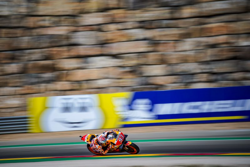 Positive start to the Aragon Grand Prix for Marquez in 1st and Pedrosa in 7th