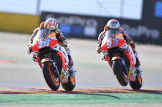 Dani Pedrosa and Marc Marquez - Aragon GP