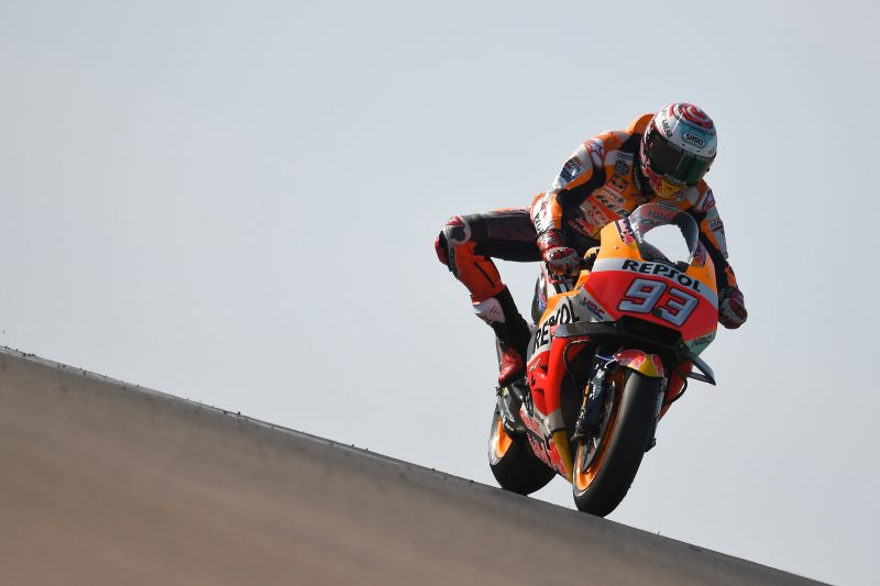 Front row start for Marc Marquez in Aragon, Dani Pedrosa on second row