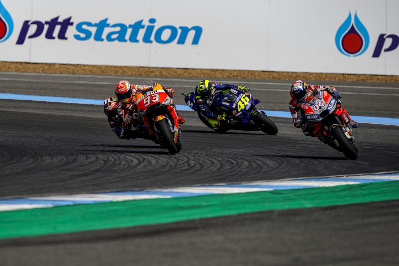 Masterful Marquez takes first Thai win; Pedrosa crashes out after a strong performance