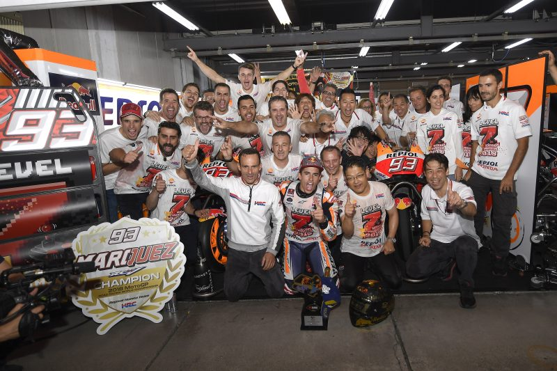 Marc Marquez crowned 2018 World Champion at Motegi