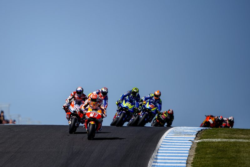 Marquez forced to retire from the Australian Grand Prix, Pedrosa crashes out of the race