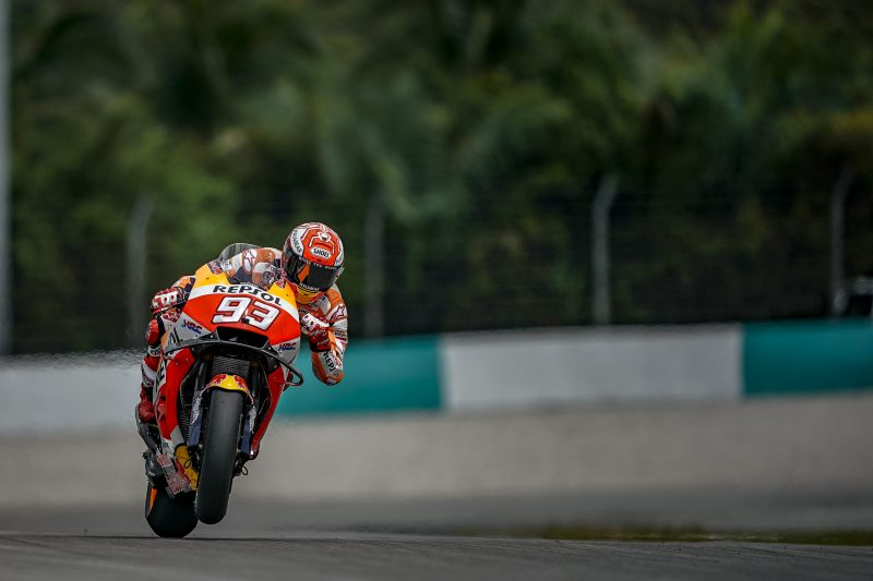 Marquez third fastest, Pedrosa 11th on the opening day of the Malaysian Grand Prix