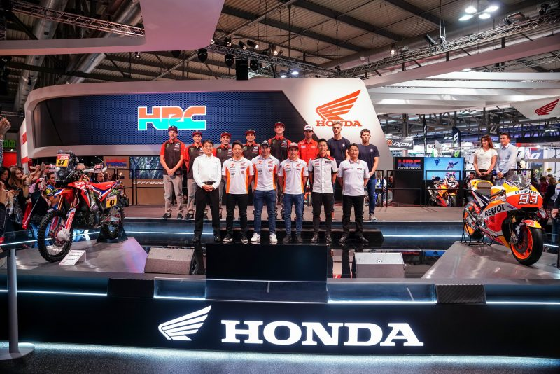 2018 MotoGP World Champion Marc Marquez attends HRC's 2019 official presentation at EICMA show in Milan