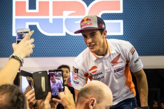 Marc Marquez at HRC's 2019 official presentation at EICMA  (Milan, Italy)