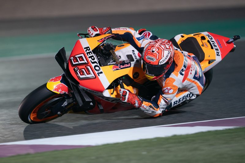 Marquez opens 2019 with front row for Qatar GP, bruised Lorenzo fights to 15th