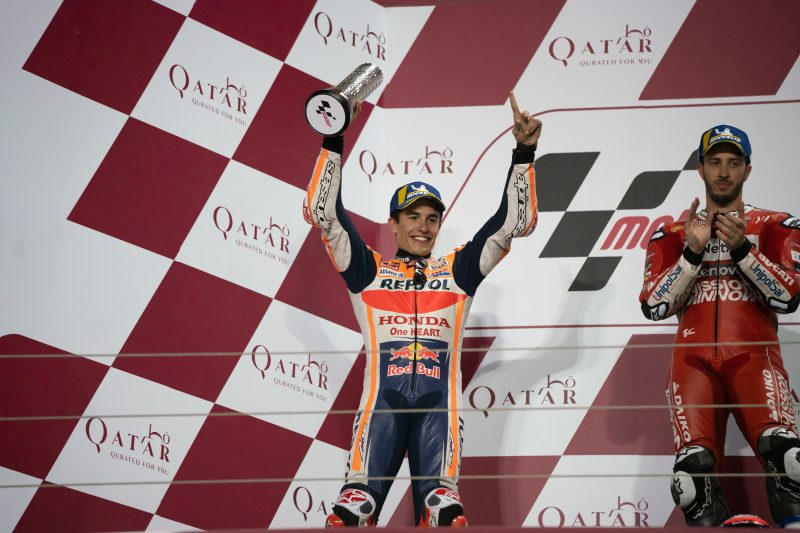 Marquez fights for second in 22-lap Qatar thriller, Lorenzo scores on debut
