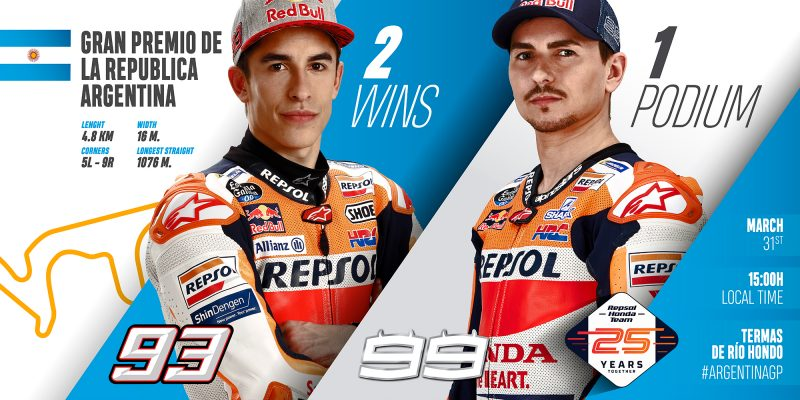 Argentina awaits the Repsol Honda Team