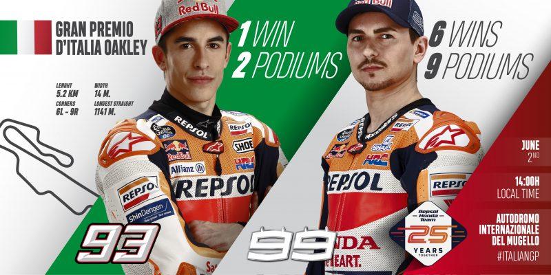 Repsol Honda Team ready for marvellous Mugello