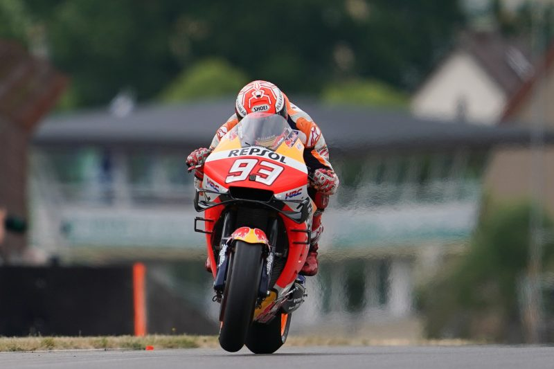 Marquez in control on Friday in Germany, Bradl competitive at home