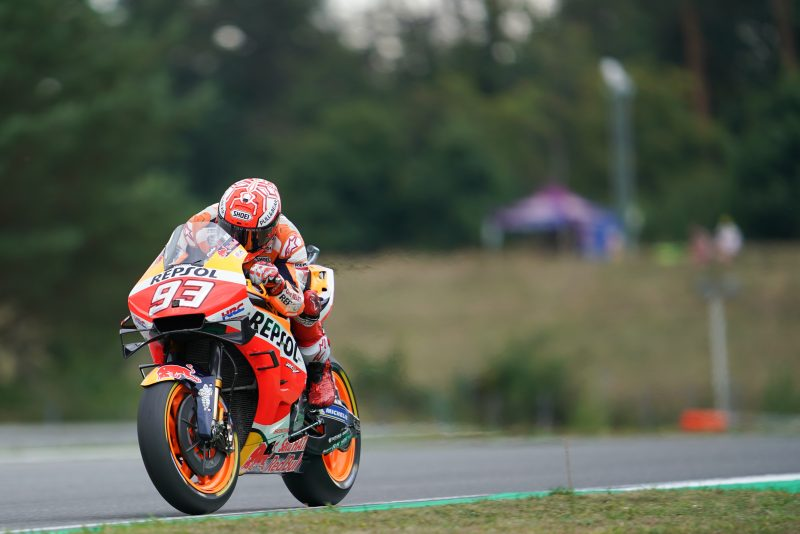 Steady Marquez second as Czech GP begins in Brno