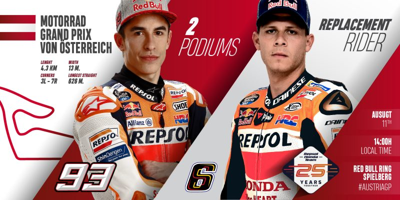 Repsol Honda Team ready to tame the Red Bull Ring