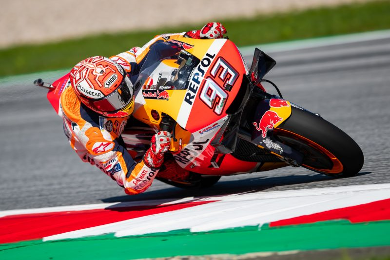 Relentless Marquez controls Friday in Austria