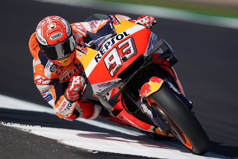 On song Marquez soars for record-breaking Silverstone pole
