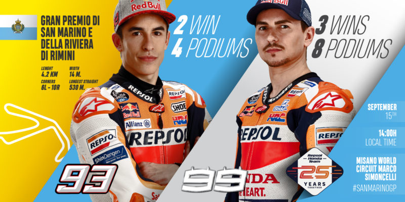 Refreshed Repsol Honda Team ready for Misano battle