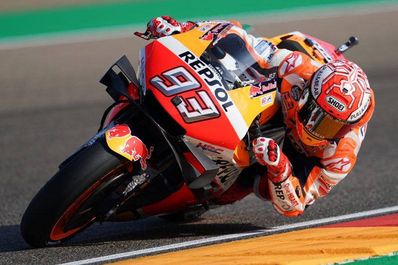 Marquez storms Aragon on Friday