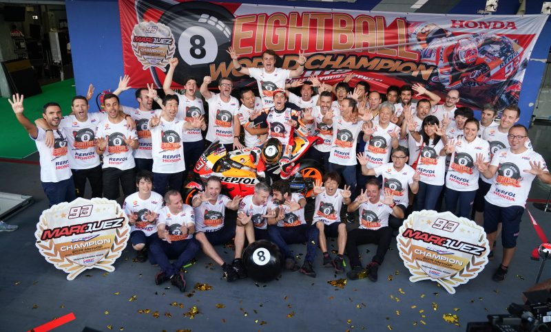 Marquez pots the #8ball with incredible last corner win in Thailand