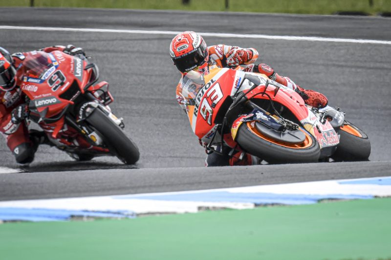 70.8° of lean – miracle Marquez saves another