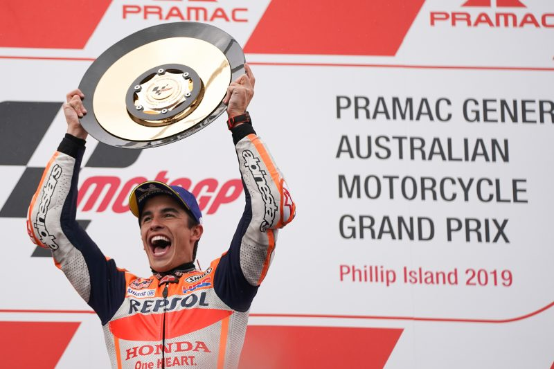 Marquez unmatched to make it five in a row with Phillip Island last-lap thriller