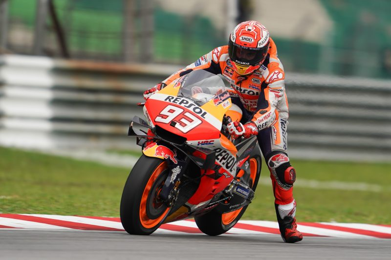 Bruising Saturday in Sepang for the Repsol Honda Team