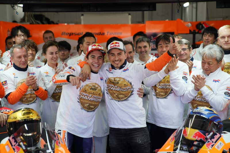 Perfect end to 2019 for Triple Crown winners Repsol Honda Team as Lorenzo says good bye