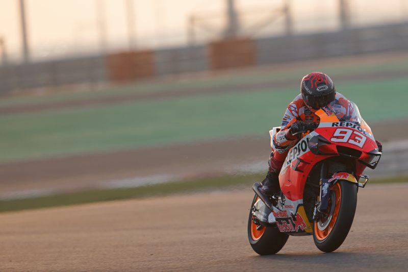 Floodlights on as testing begins in Qatar for the Repsol Honda Team