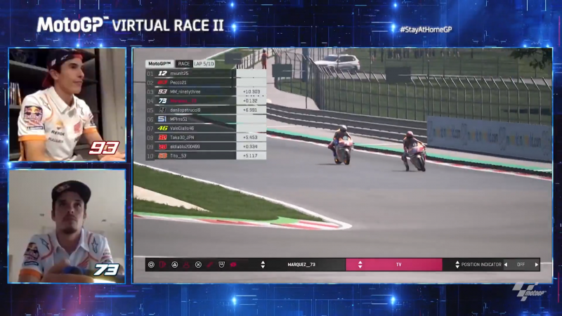 Miraculous Alex Marquez recovers for Virtual GP podium at the Red Bull Ring
