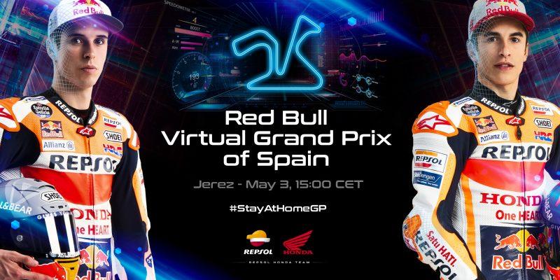 Repsol Honda Team line up for Red Bull Virtual GP of Spain
