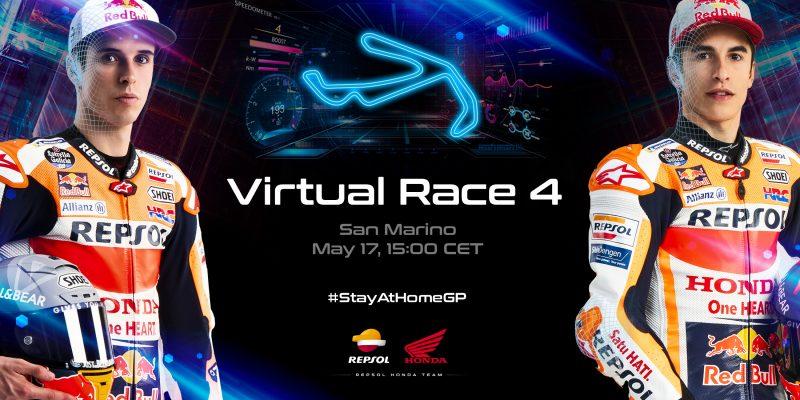 Round Four of the Virtual GP calls the Repsol Honda Team