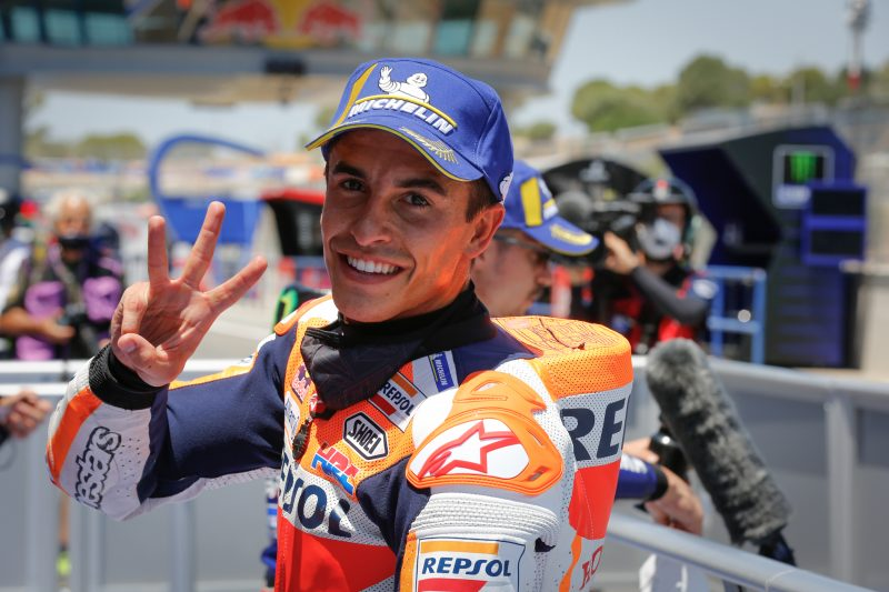 Marc Marquez conquers the Jerez heat for front row start