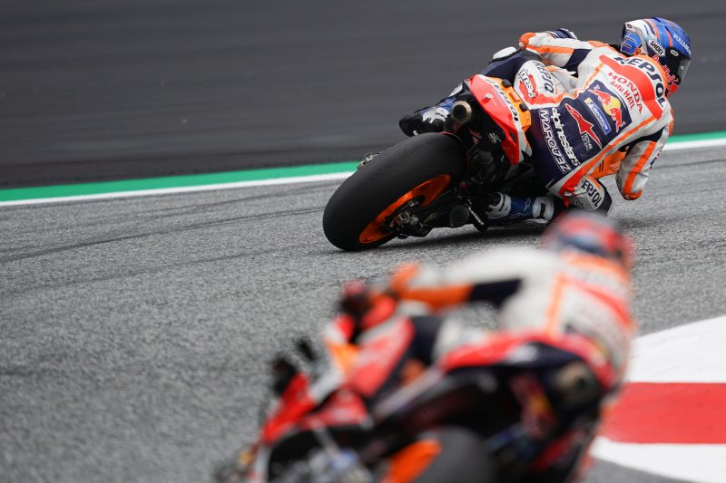 Limited laps for the Repsol Honda Team at weather-hit Austrian GP