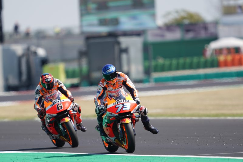 Determined Bradl pushes until the end