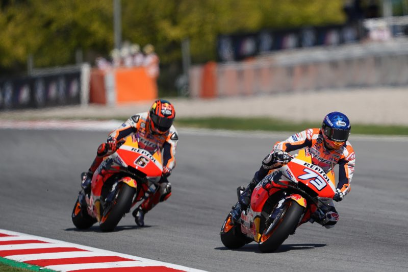 Repsol Honda Team continue work on Saturday